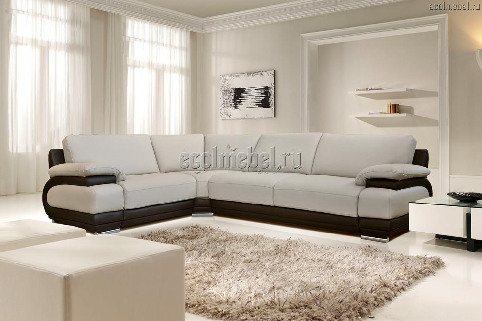 Угловой диван валлета в коже
