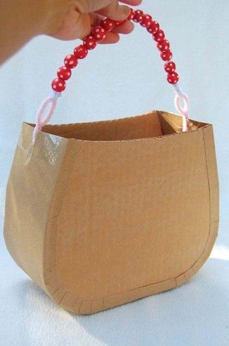 Как сделать сумочки из картона