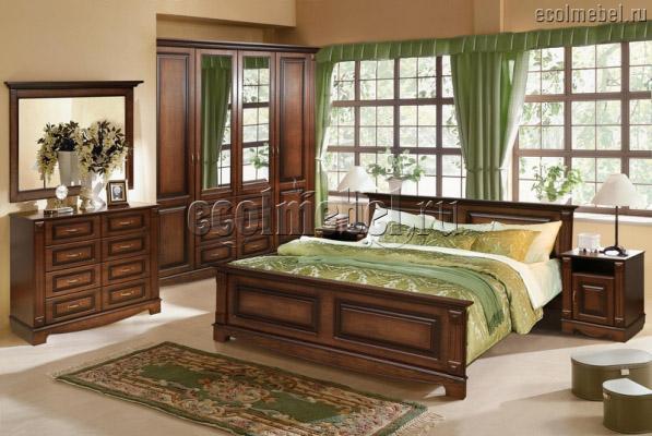 Кровать из дуба