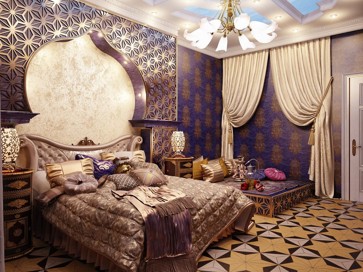 Спальня в арабском стиле фото